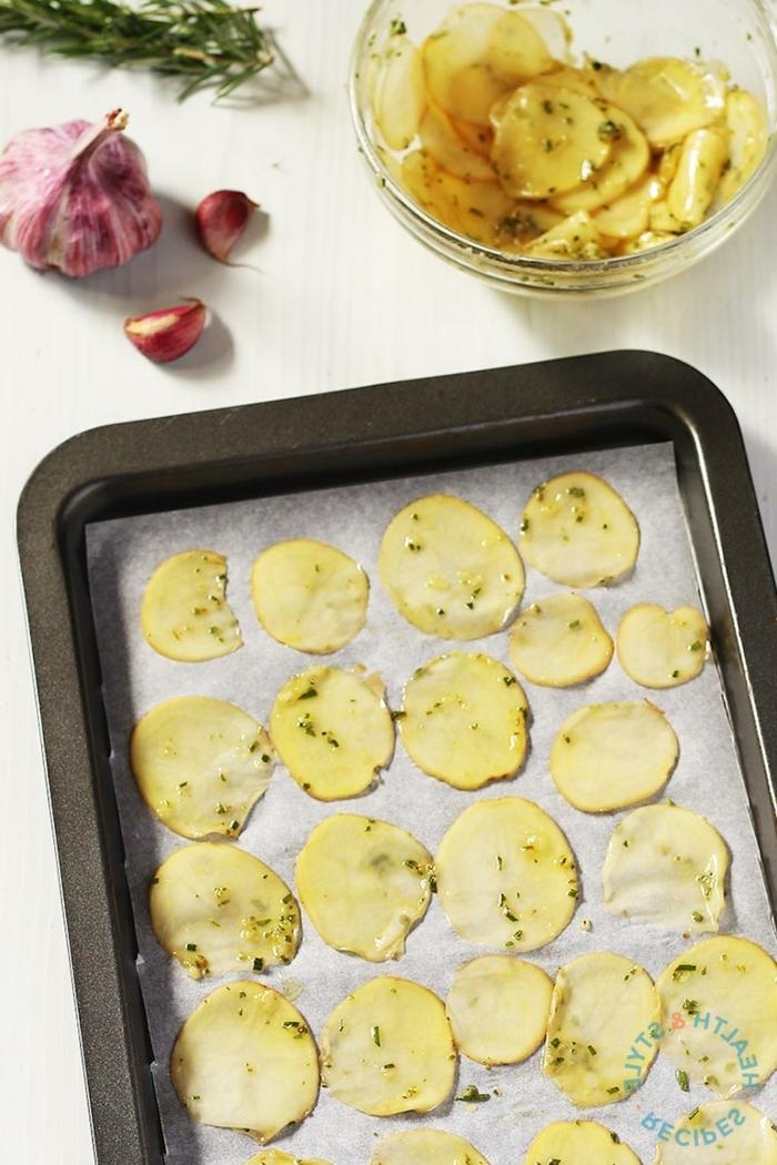 chips selbst machen ofen parytessen schritt und einfach essen für picknick picknickessen