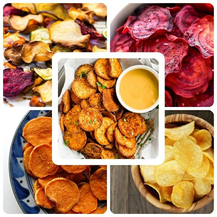 chips selbst machen ofen verschiedene rezepte wie macht man kartoffelchips rote beete süßkartoffeln