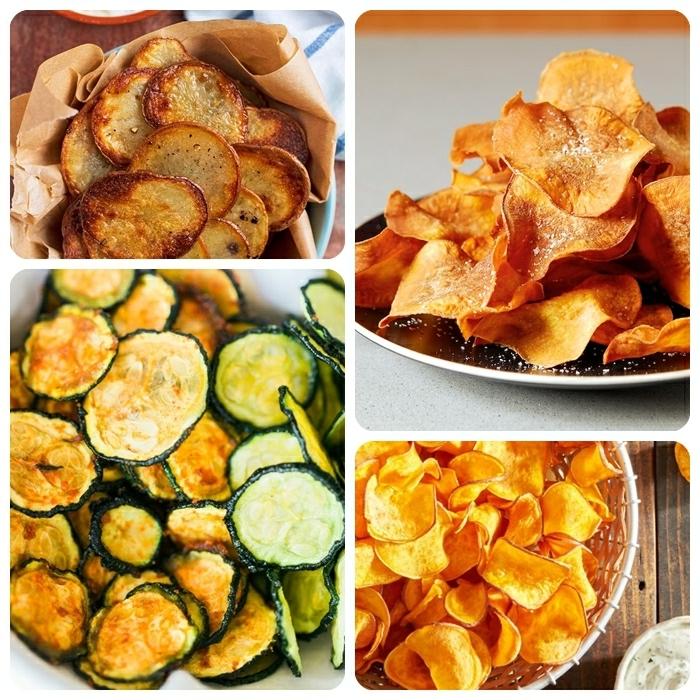 chips selbst machen schritt für schritt kartoffelchips im backofen zucchinichips zubereitungsweise