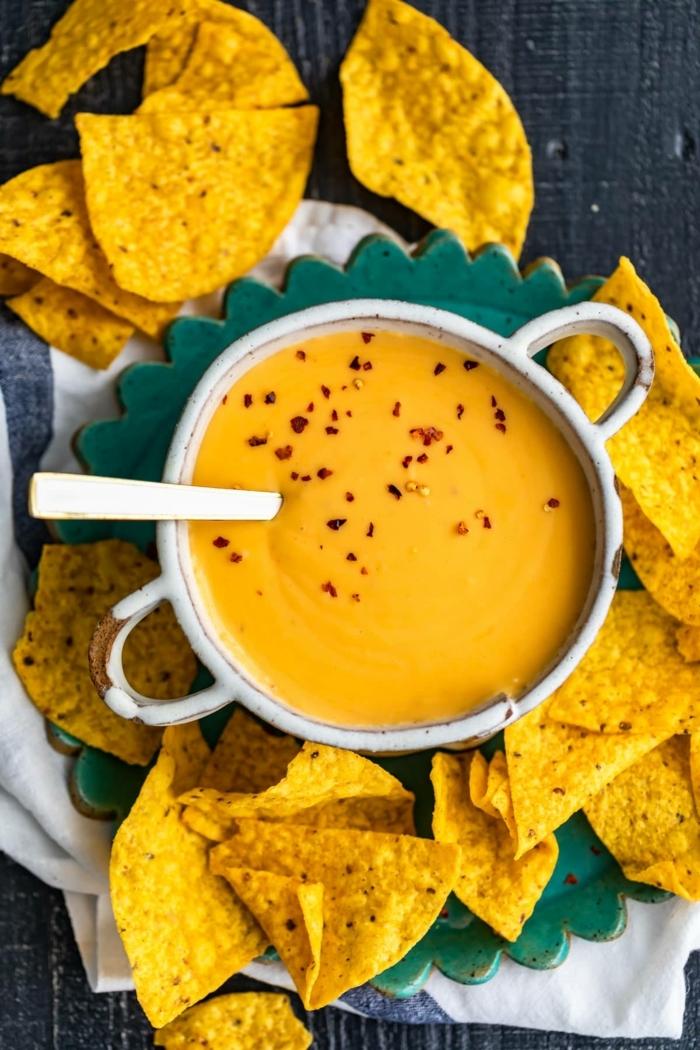 chips selbst machen tacochips mit käsesoße partyessen ideen einfaches partyfood schritt für schritt