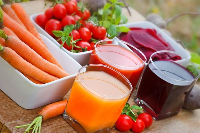 detox saftkur 3 tage entschlacken frischer saft möhren tomaten rote rübe