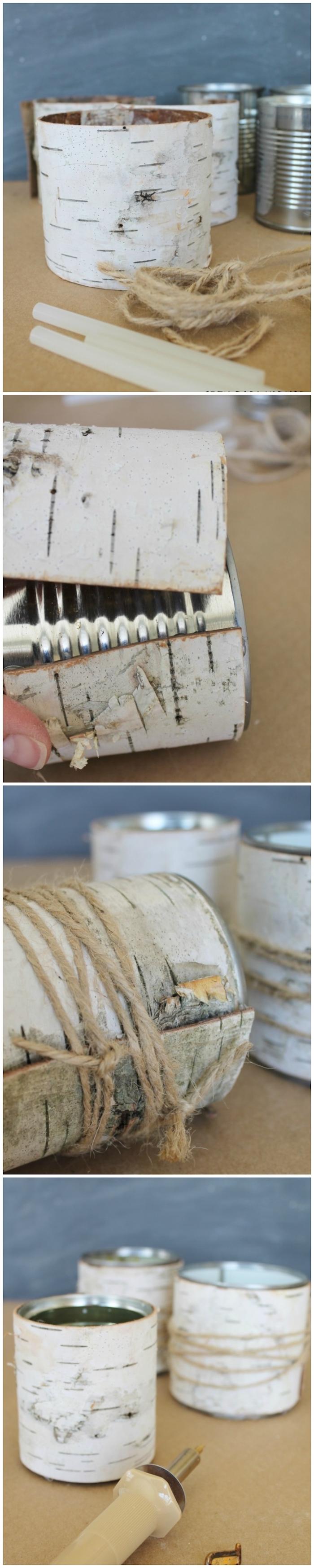 diy birkenstamm deko wohnzimmer anleitung schritt für schritt erklärung kreative bastelideen mit birkenholz
