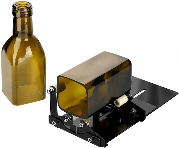 eine grüne geschnittene weinflasche geschenke für die beste freundin ein wine bottle cutter