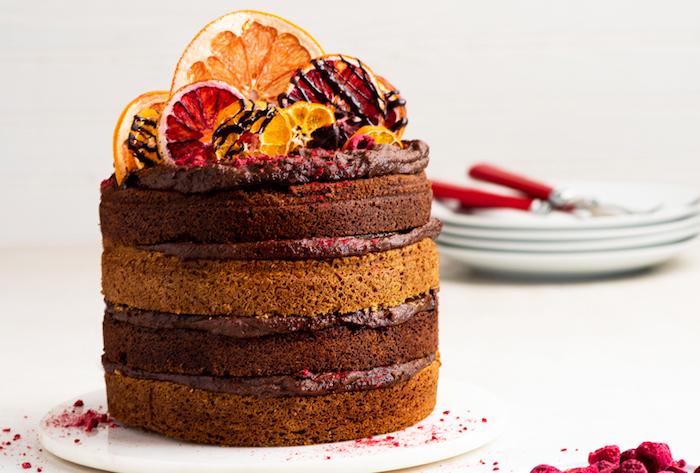 einfache vegetarische gerichte für gäste kuchen mit schokolade zitronen und schokocrem