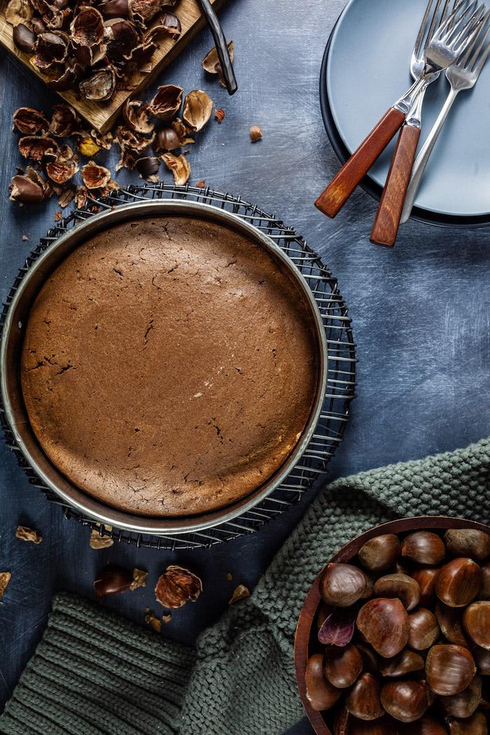 esskastanien rezepte süßigkeiten maronen schokolade backen im ofen