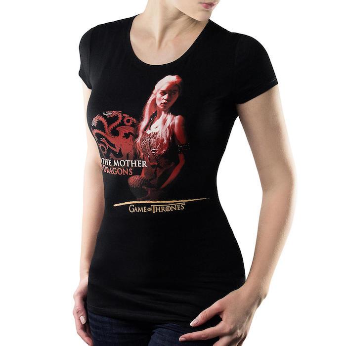 game of thrones t shirt eine junge frau mother of dragons drei rote drachen