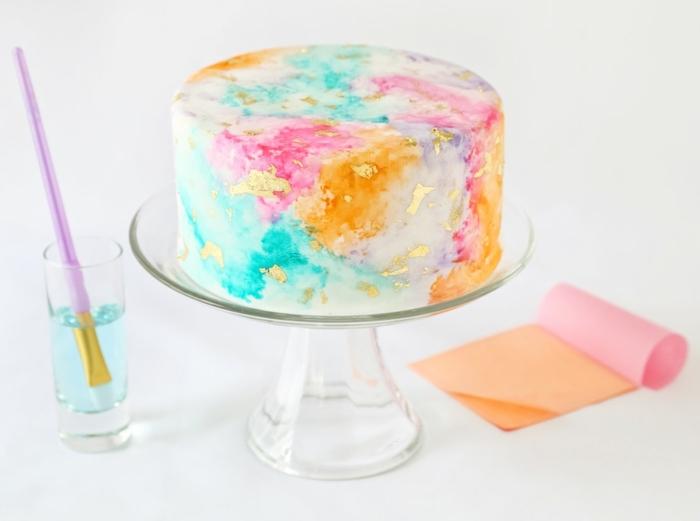 geburtstagskuchen für mädchen 3 jahre bunter geburtstagskuchen torte dekorieren inspirationen beispiele