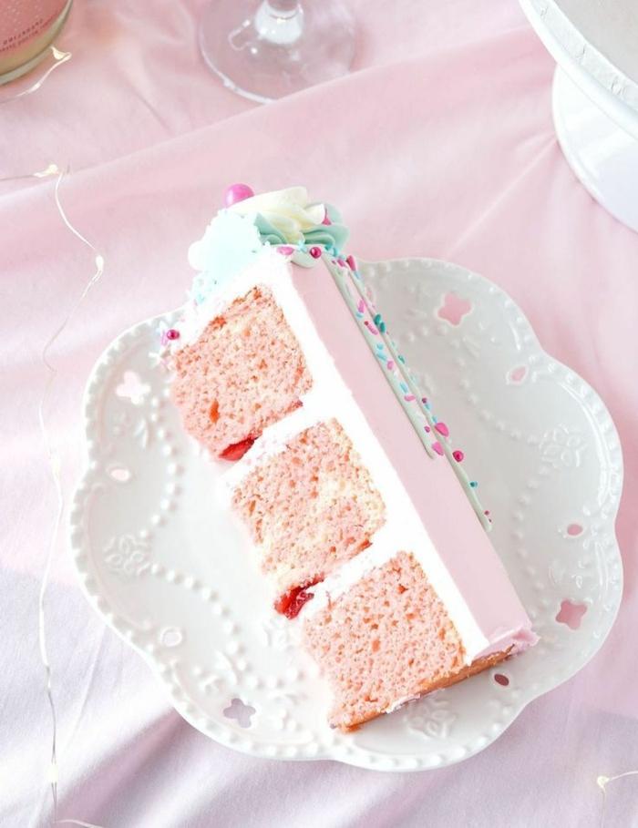 geburtstagstorte für 1 jähruges mädchen leckere rezepte rosa tortenboden geburtstagskuchen ideen