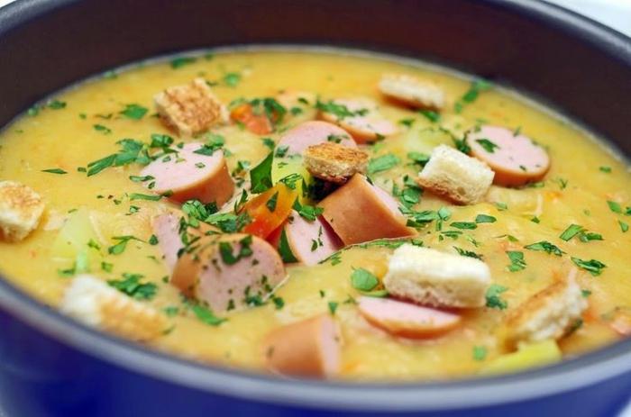 geschnittene würstchen einfaches und schnelles kartoffelsuppe rezept auppe mit würstchen