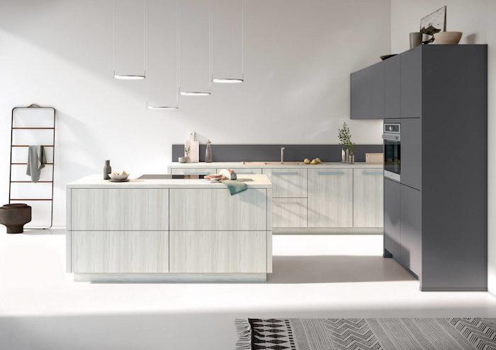 grifflose küche ikea küche landhaus holz weiß grau kochinsel