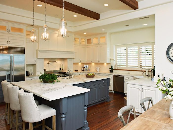 große küche inspiration ikea 2021 l form mit fenster weiß und grau