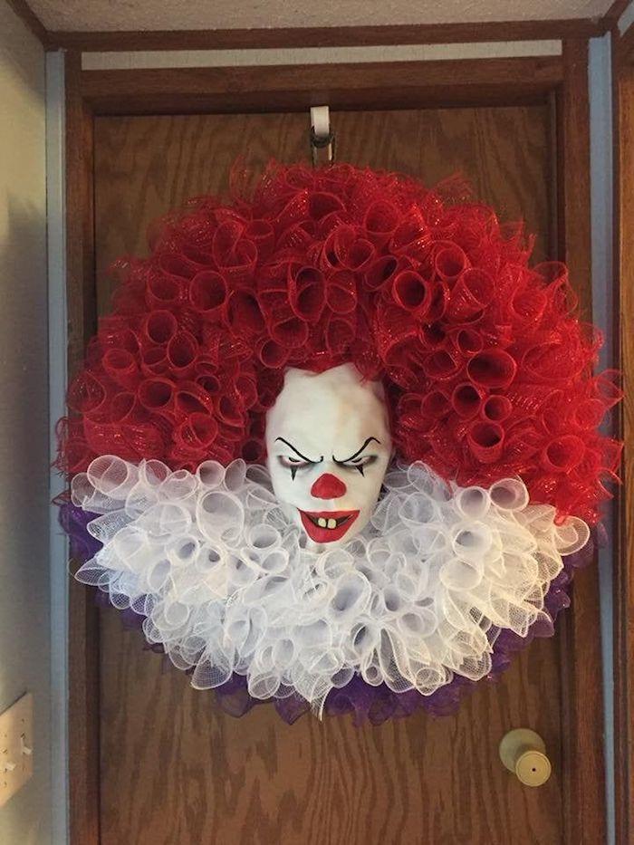halloween basteln deko kranz selber machen it monster