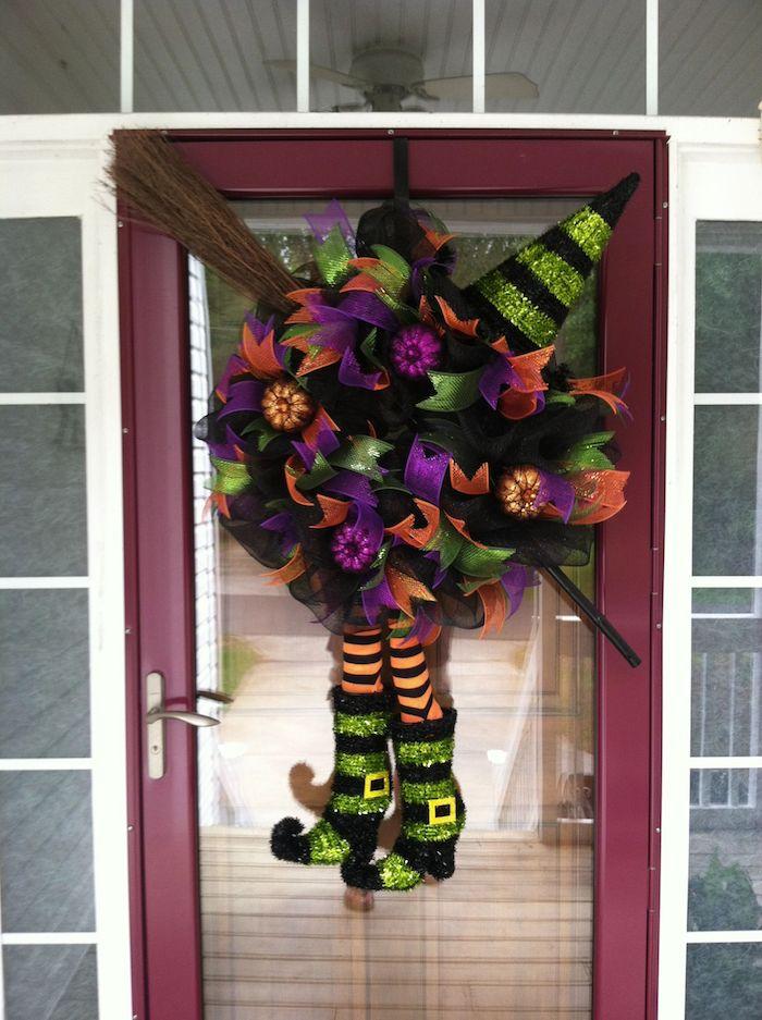 halloween bastelvorlage diy für draußen kranz