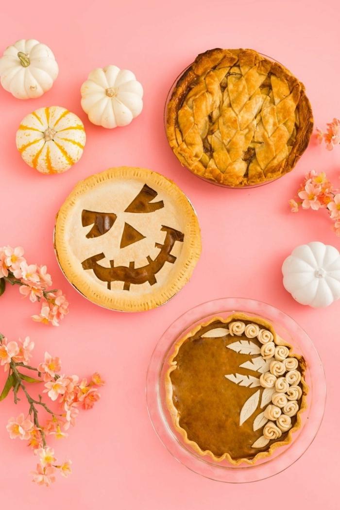 halloween essen party mini pumpkinpies pies selber machen kürbispies rezepte mit kürbis
