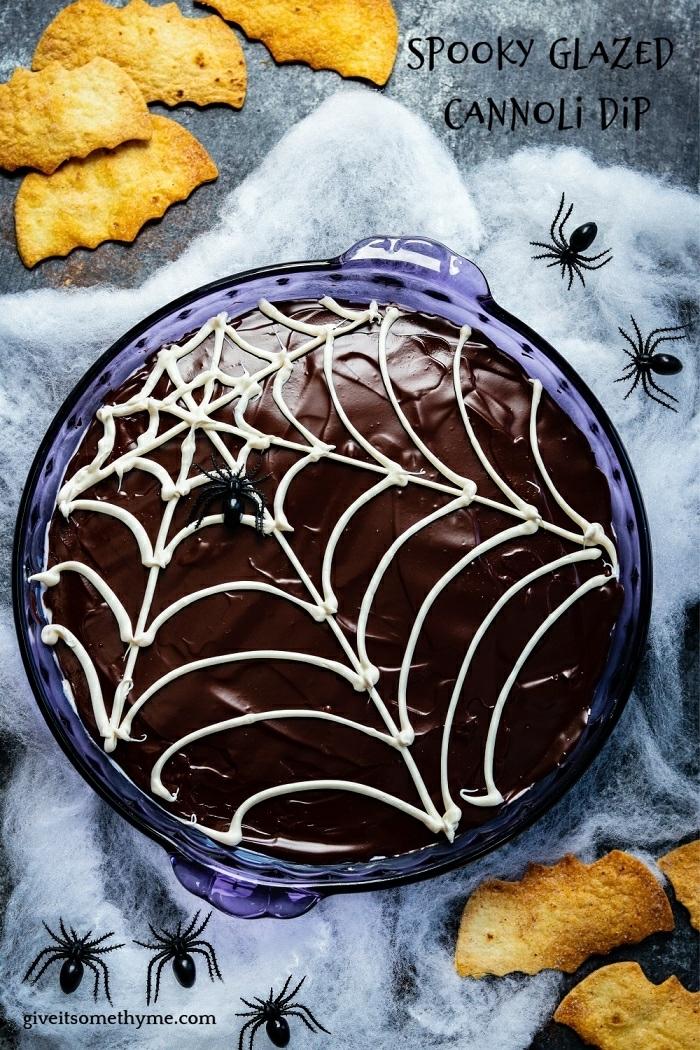 halloween party essen ideen und rezepte schokoladenkuchen mit cannoli partyessen