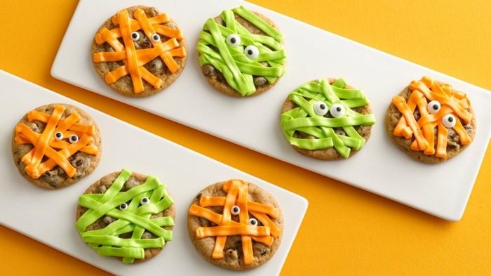 halloween party essen kekse mit käse käsekekse leckere crackers fingerfood ideen kinderparty