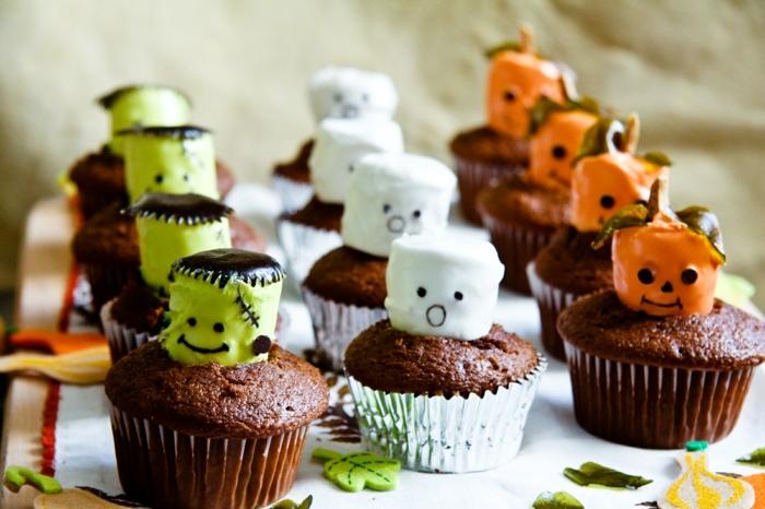 halloween rezepte fingerfood muffins mit schokolade schokomuffins zubereitungsweise cupcakes dekorieren