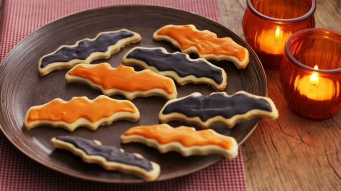 halloween rezepte kinder kekse fledermäuse partyessen ideen essen für party kinderessen partysnacks