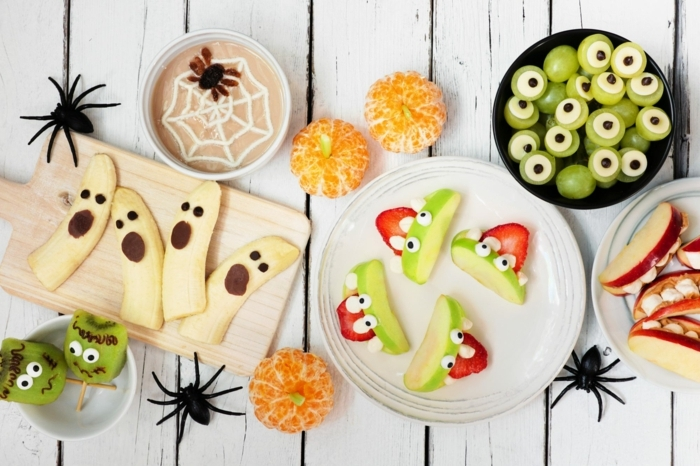 halloween snacks fingerfood kindeprarty essen ideen für den herbst gesunde rezepte