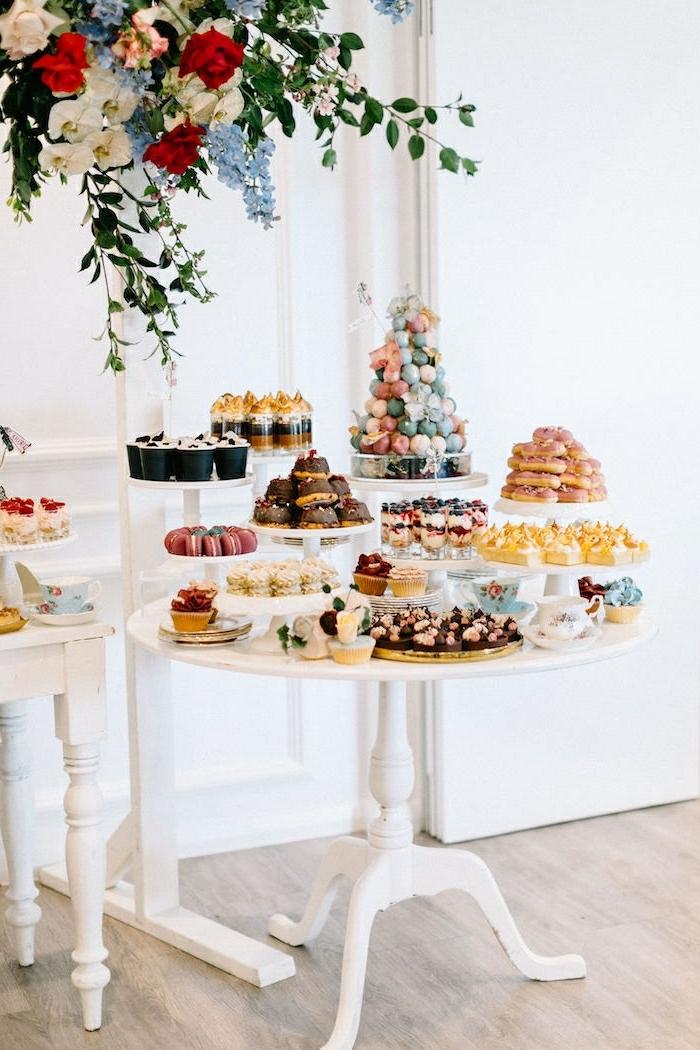 hochzeit candy bar süßigkeiten für die gäste selbstgemachter candybar hochzeitsfood ideen