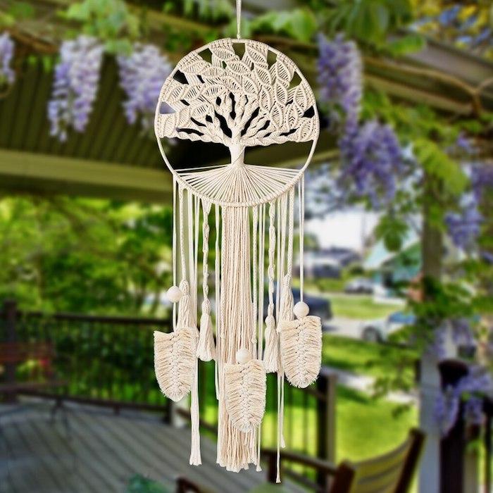 hochzeit dekoration traumfänger boho makramee böhmisch chic style feste deko ideen inspiration originelle ideen