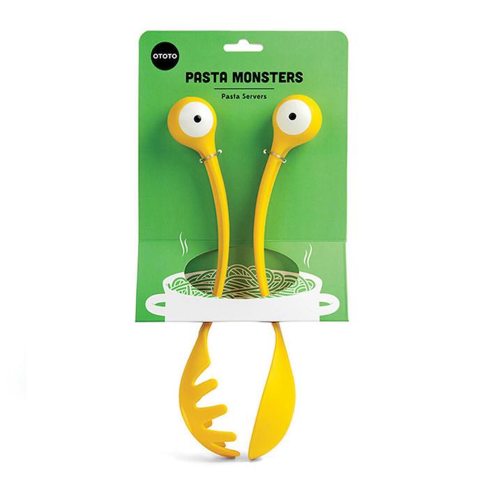 ideen für geschenke für die beste freundin gelbe pasta monsters mit großen weißen augen
