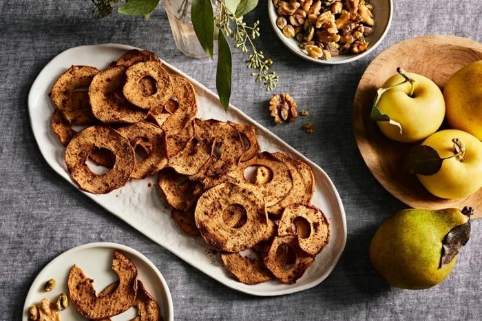kartoffelchips selber machen backoffen die besten party rezepte partyessen gesund apfelchips mit zimt und braunem zucker