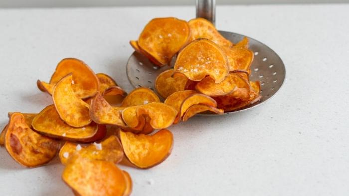 kartoffelchips selber machen backoffen gesunde chips aus kartoffeln partyessen ideen party rezepte