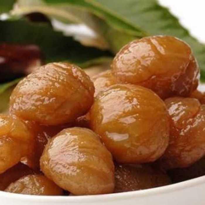katsanien kaufen zubereiten tradizionelle desserten maronen in zuckersirup