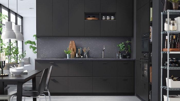 küche anthrazit küchengestaltung inspiration l form küchenzeile