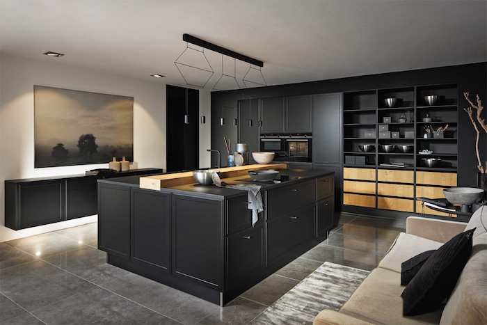 küche anthrazit moderne ikea küchen inspiration weiße wände schwarze schränke
