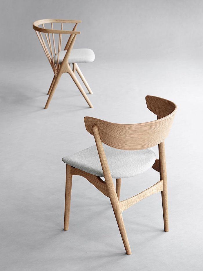 möbel scandi style bilder stühle aus holz minimalistisches design moderne einrichtung wohnung holzmotive