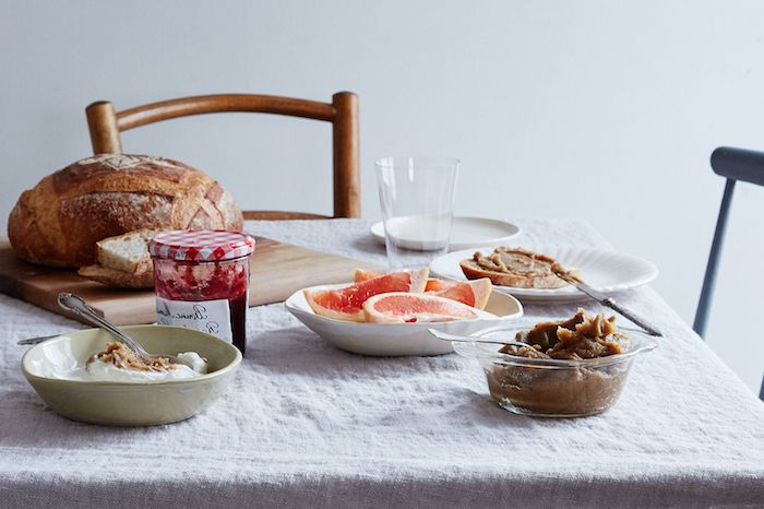 maronen zubereiten rezepte mit maronen maronencreme zum frühstück lecker mit toast und früchten