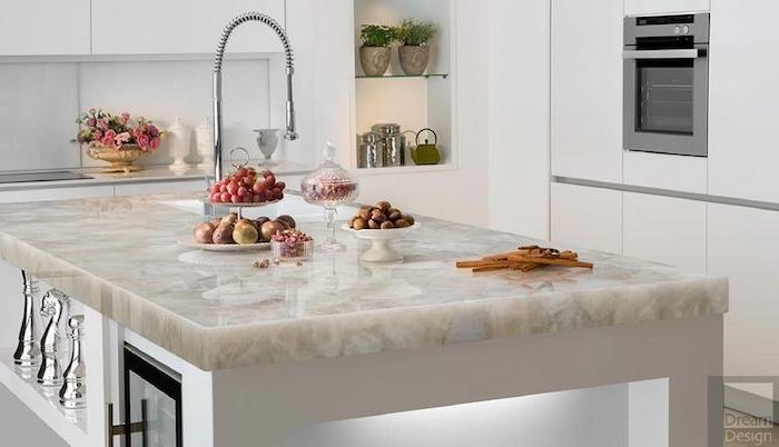 moderne küche inspiration 2021 wandfarben in pastelltöne streichen