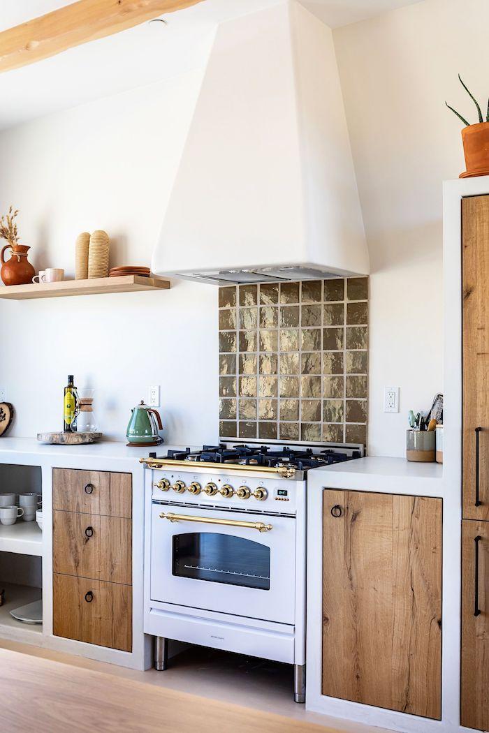 moderne küche inspiration ikea weiß und holz hell