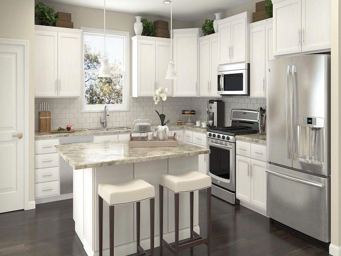 moderne küche l form ikea ideen trends 2021 kleine insel weiß
