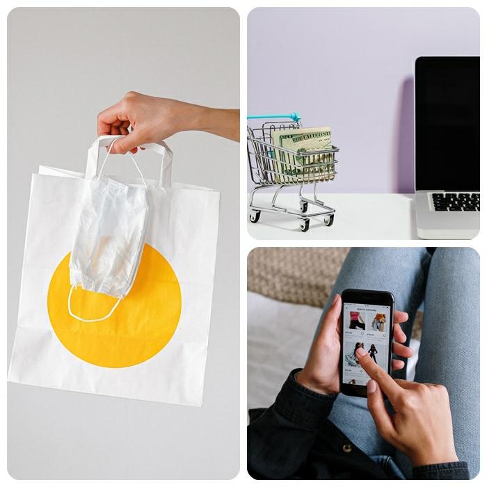 online shoppen in corona zeiten schutz gegen viren shopping coronavirus handy schutzmaske