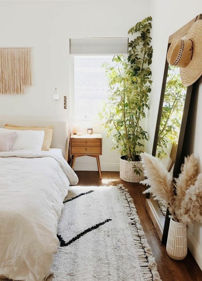 pampasgras deko bestellen schlazimmer dekorieren kleines zimmer einrichten pflanzen trockngras