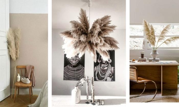 pampasgras deko bestellen zimmer dekoration beispiele wohnungsdeko mit trockngras trockblumenstrauß