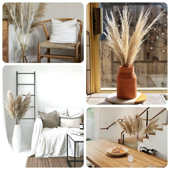 pampasgras getrocknet deko dekoideen für de wohnung skandinavisch wohnen trockenblumen in vasen