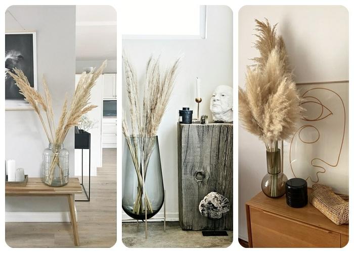 pampasgras getrocknet deko große vasen mit trockengras zimmer dekorieren zimmerdeko beispiele blumendeko