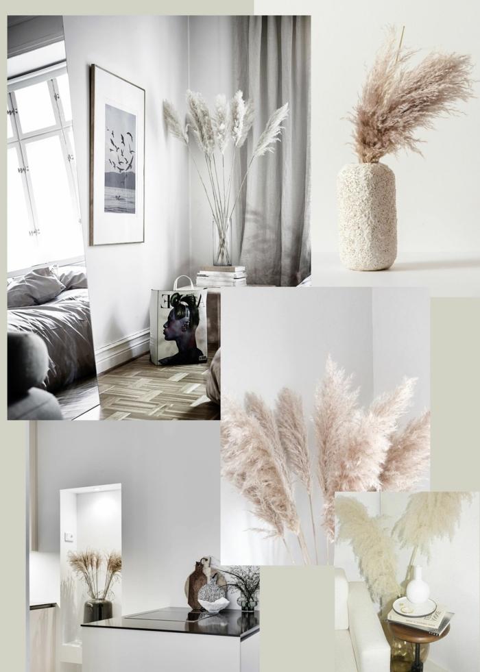 pampasgras getrocknet natur trockengras dekoideen zimmer dekorieren skandi wohnungsdeko fotos