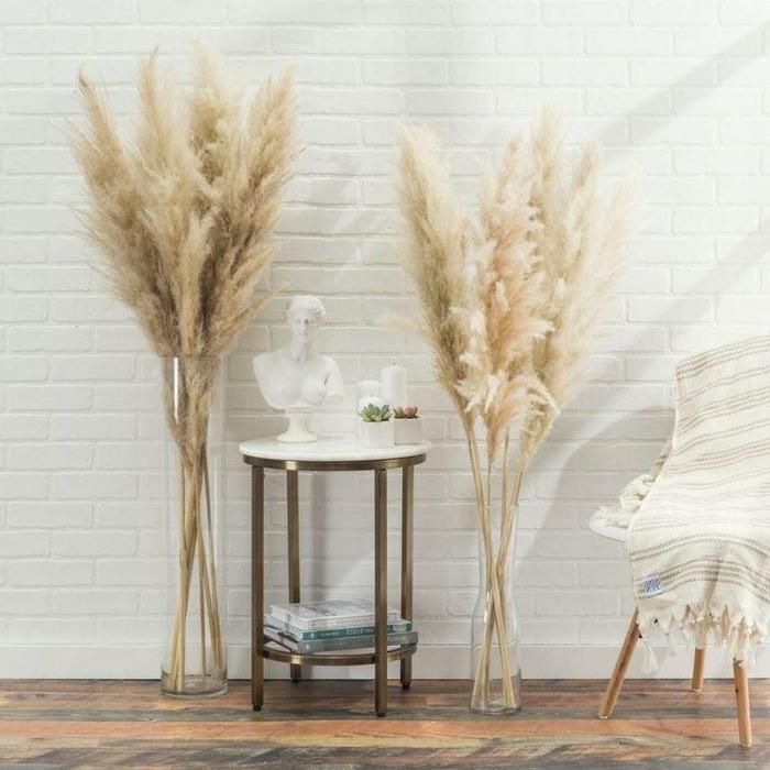 pampasgras pflege trocknblumenstrauß zimmer dekorieren beispiele skandi deko skandinavisch wohnen