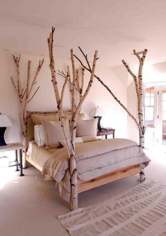 schlafzimmer einrichten inspiration großes bett minimalistische innenausstattung neutrale farben gestaltung interior design ideen inspo