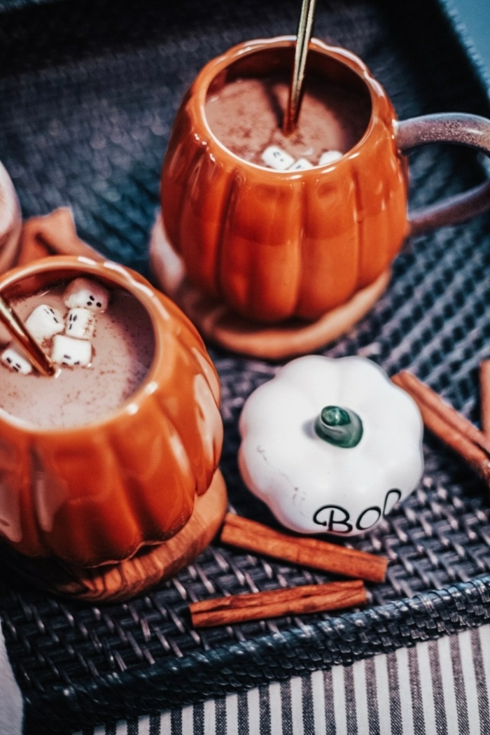 schnelle halloween rezepte für kinder und erwachsene heiße schokoalde selber machen rezept