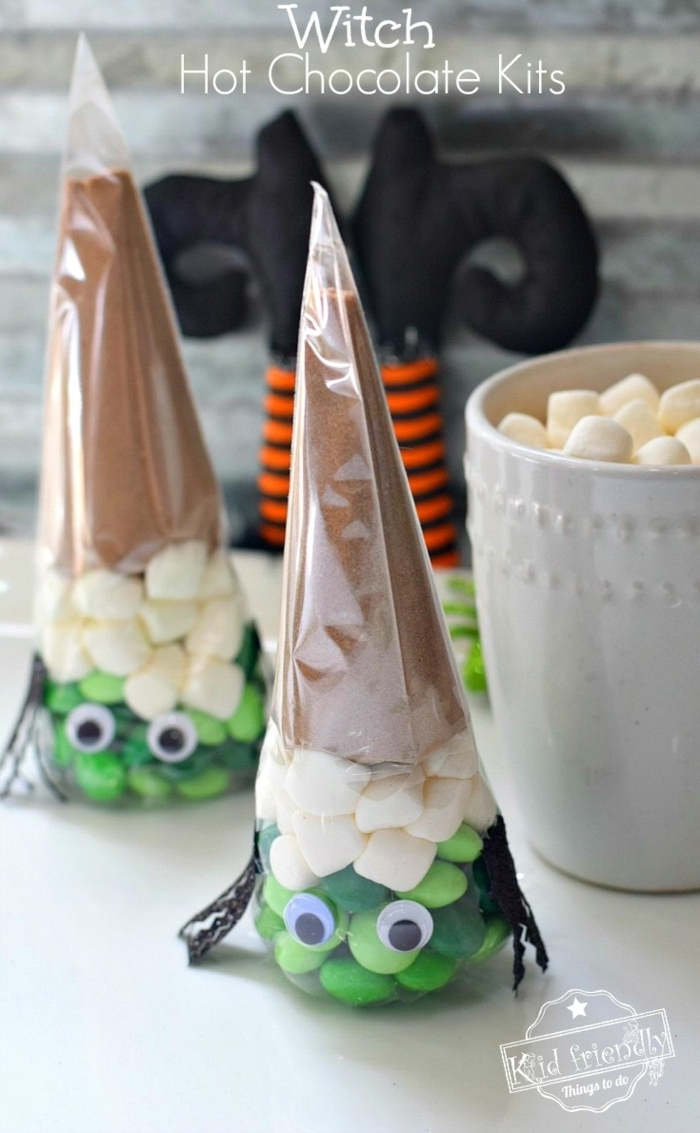 schnelle halloween rezepte snacks für kinder kindersnacks mini marshmalloes bonbons schokoalde