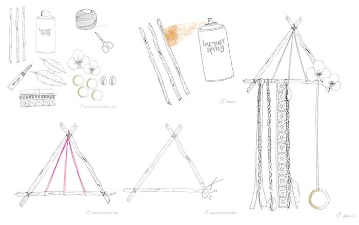 traumfänger selber machen bastelbedarf diy anleitung schritt für schritt kreative bastelideen dekoration