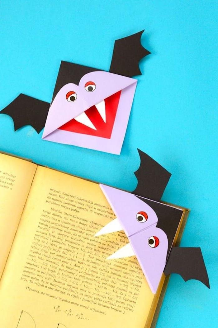 vampire buchspalter halloween selber machen kind basteln