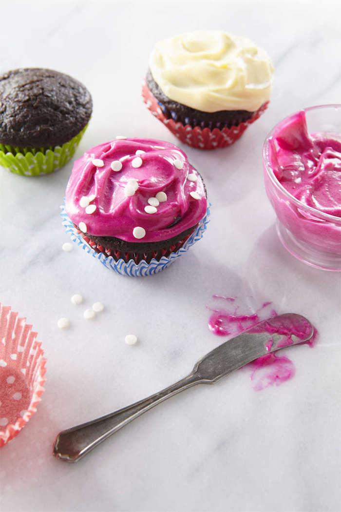 vegetarsiche gerichte für kinder schnelle leckere rezepten rosa schoko muffins
