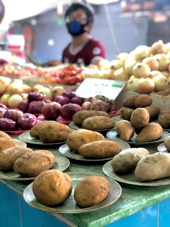 verschiedene kartoffelsorten für eine cremige kartoffelsuppe